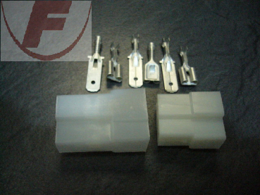 Steckverbinder Set, 6,3mm, 3polig, 0,5-1mm², T-Form