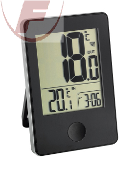 TFA Funk-Thermometer - Pop schwarz