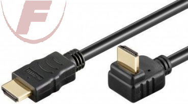 "High Speed HDMI-Kabel mit Ethernet, 1 m, HDMI Stecker ""A"" / HDMI Stecker ""A"" 270"