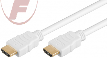 High Speed HDMI™ Kabel mit Ethernet, vergoldet, 15m, weiß