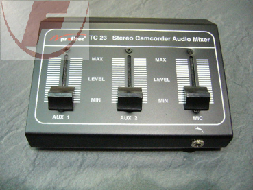 TC 23, Stereo Camcorder Audio Mischpult