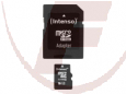 Micro SDHC 16GB  + Adapter, Intenso, Class 10